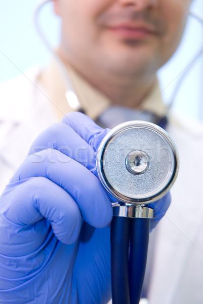 Doktor stetoskop portre iş mutlu Stok fotoğraf © Geribody
