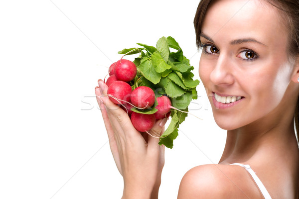 Long live healthily, eating good foods Stock photo © Geribody