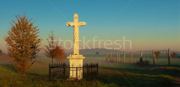 Cemetery in the mountains Stock photo © Geribody
