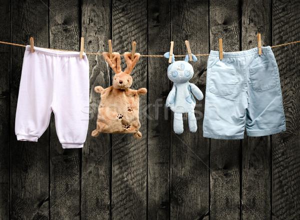 赤ちゃん 生まれる 少年 少女 木材 中心 ストックフォト © Geribody