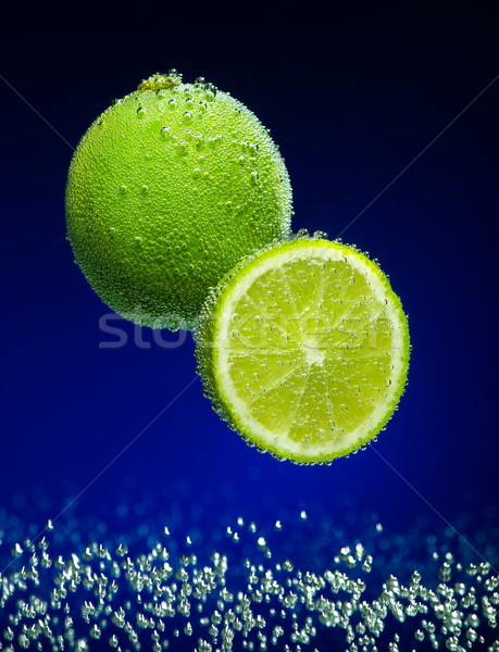 Fresh lime with bubbles Stock photo © Geribody