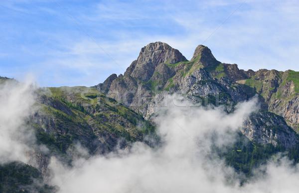 Montagnes brouillard ciel résumé fond terre Photo stock © Geribody