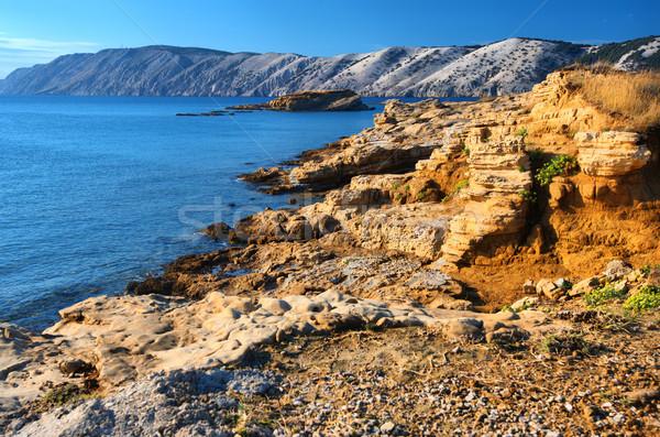 Güzel deniz manzara Hırvatistan plaj Stok fotoğraf © Geribody