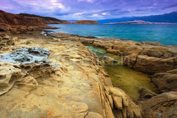красивой морем пейзаж Хорватия пляж Сток-фото © Geribody