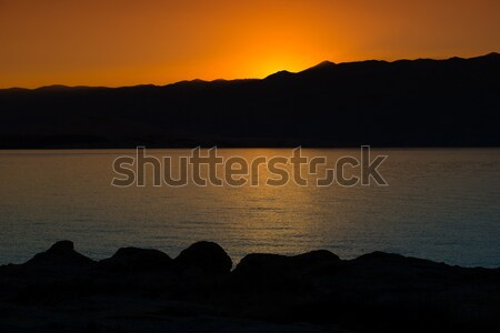 Belle mer sunrise paysage Croatie Photo stock © Geribody