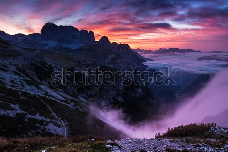 Sunrise in the Dolomites Stock photo © Geribody