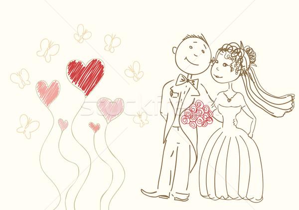 bride and groom Stock photo © Ghenadie