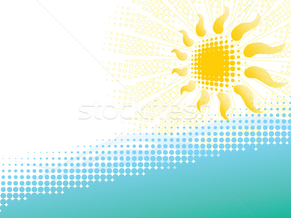 abstract summer background Stock photo © Ghenadie