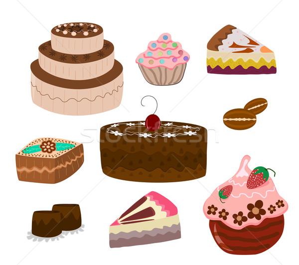 cakes Stock photo © Ghenadie