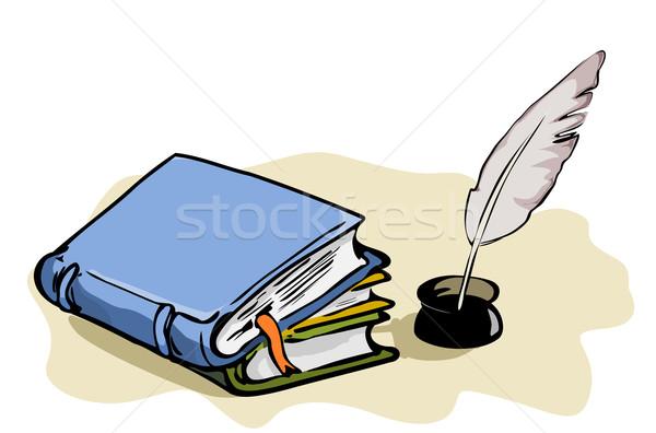 図書 紙 図書 背景 レトロな 色 ストックフォト © Ghenadie