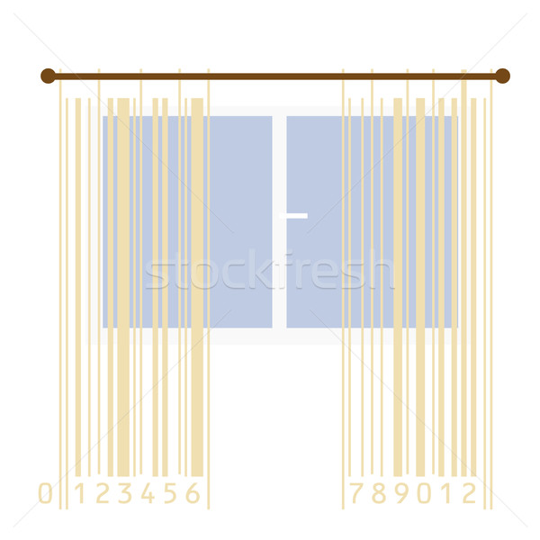 curtains stylized with bar-code stripes Stock photo © Ghenadie