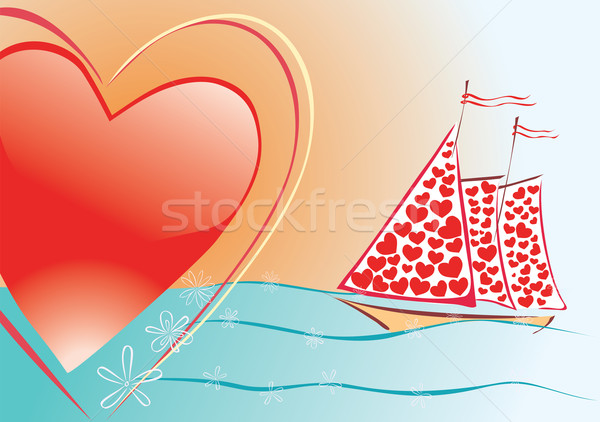Sails of love  Stock photo © Ghenadie