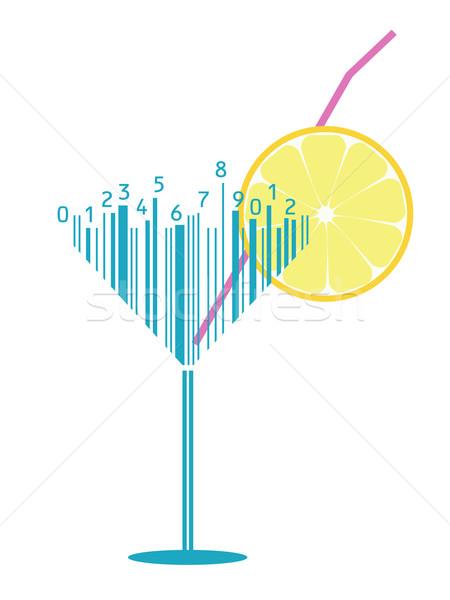 カクテル 定型化された バーコード ビジネス デザイン バー ストックフォト © Ghenadie