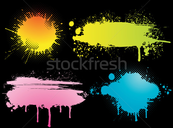 set of grunge colorful backgrounds Stock photo © Ghenadie