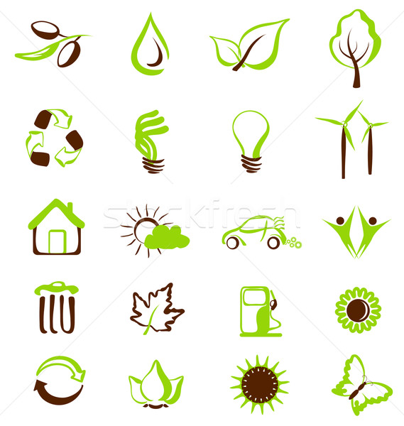 Environmental icons and symbols Stock photo © Ghenadie