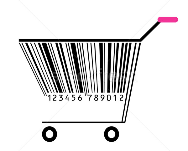 basket with bar-code Stock photo © Ghenadie