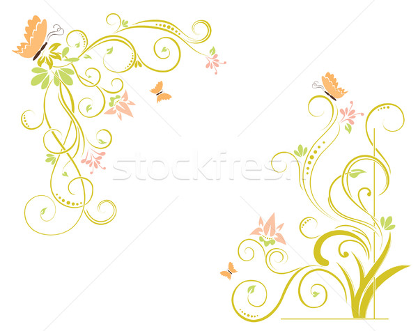abstract floral elements Stock photo © Ghenadie