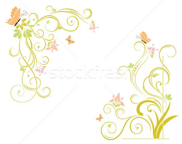 抽象的な フローラル 要素 テクスチャ 結婚式 庭園 ストックフォト © Ghenadie