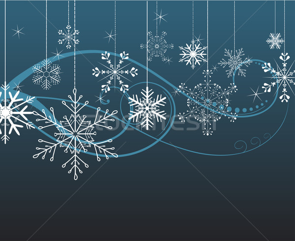 background with snowflakes Stock photo © Ghenadie