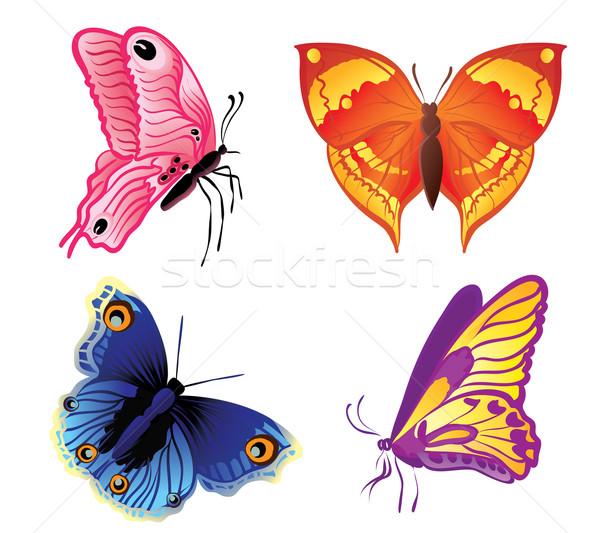 butterflies set  Stock photo © Ghenadie