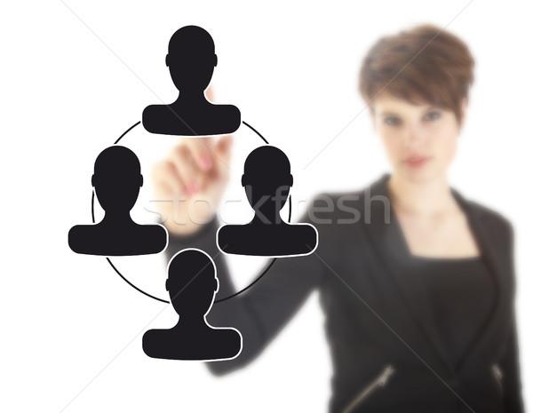 Jeunes femme d'affaires noir amis isolé Photo stock © gigra