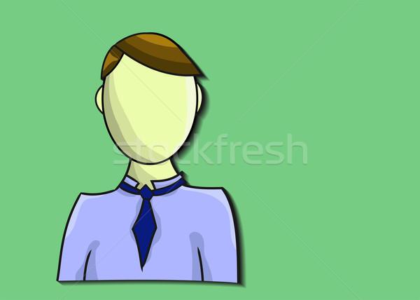 örnek iş adamı yeşil işadamı imzalamak takım elbise Stok fotoğraf © gigra