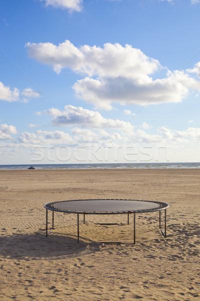 Vazio trampolim praia blue sky céu saltar Foto stock © gigra