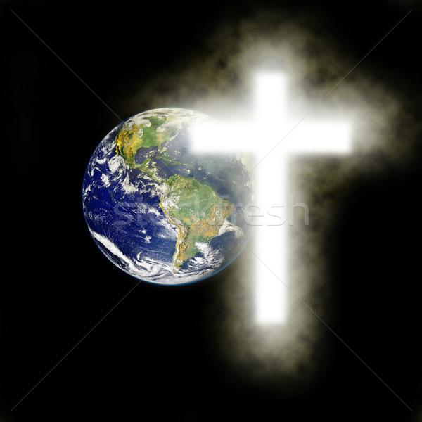 地球 宗教 クロス 黒 要素 画像 ストックフォト © gigra