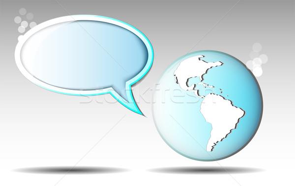 ストックフォト: 実例 · 文字 · バルーン · 地球 · 要素 · 画像