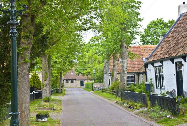Vista típico histórico calle Países Bajos casa Foto stock © gigra