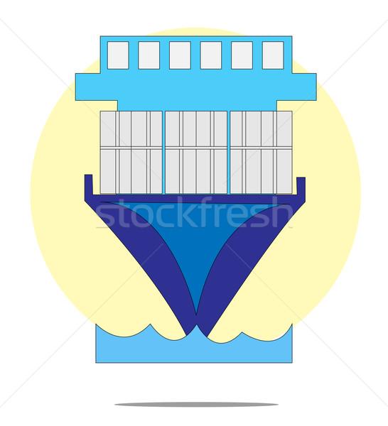 Ilustración amarillo círculo negocios mar barco Foto stock © gigra