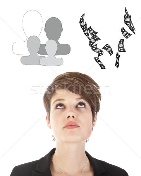 Jeunes femme d'affaires choix famille carrière Photo stock © gigra