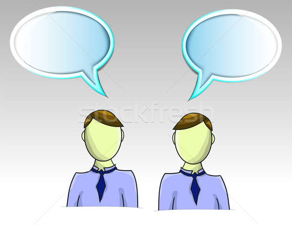 Illustration of two business men with text balloons Stock photo © gigra