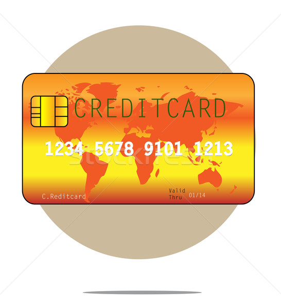 Illustration of a creditcard with circle background Stock photo © gigra