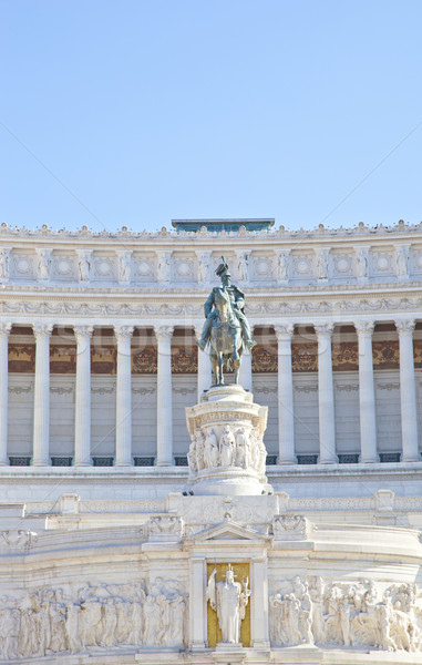 Stock photo: Detail of statue at Piazza Venezia, Rome, Italy