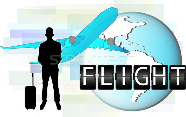 Ilustración hombre de negocios viaje mundo hombre fondo Foto stock © gigra