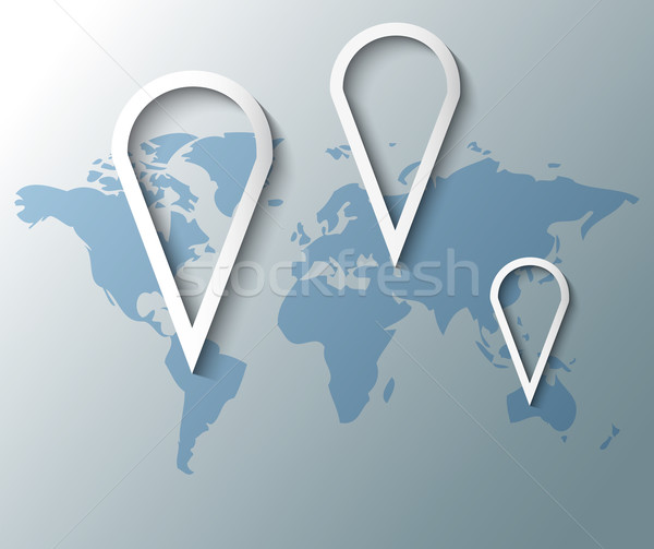 Illustration of group pins with world map Stock photo © gigra