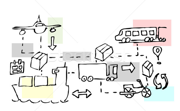Illustration of logistics transport movements Stock photo © gigra