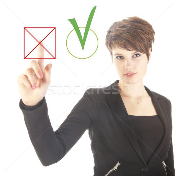 Jóvenes mujer de negocios no sí aislado Foto stock © gigra