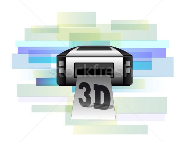 örnek yazıcı 3D ürünleri bilgisayar Stok fotoğraf © gigra