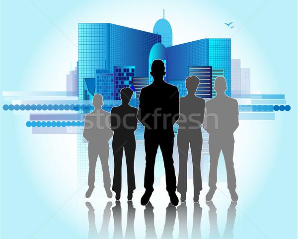 örnek iş adamları iş şehir toplantı Stok fotoğraf © gigra