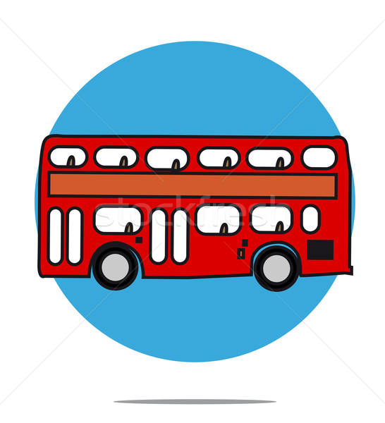 Ilustración rojo autobús azul círculo coche Foto stock © gigra