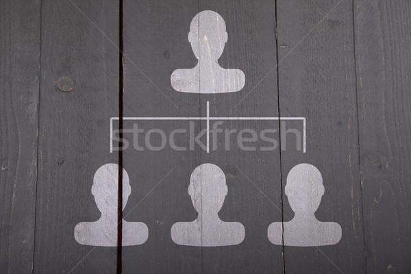 Beyaz karanlık siyah ahşap iş ahşap Stok fotoğraf © gigra