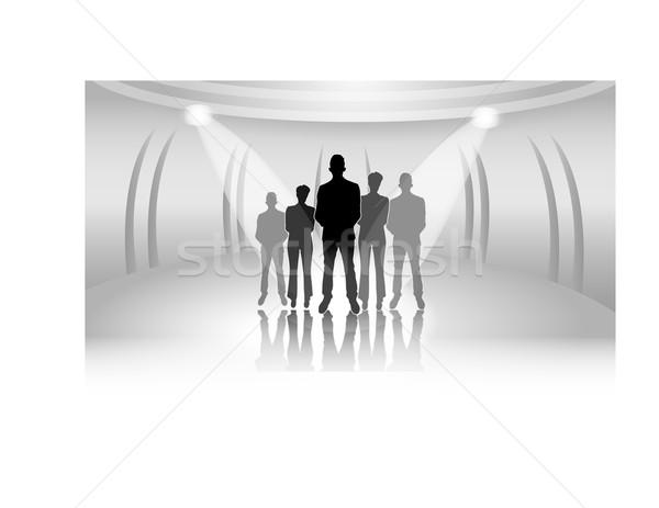 Ilustración gente de negocios luces negocios mujer trabajo Foto stock © gigra