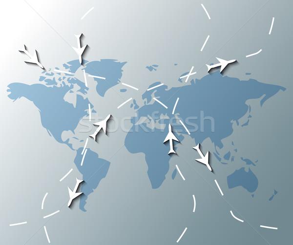 örnek dünya haritası iş harita teknoloji Stok fotoğraf © gigra