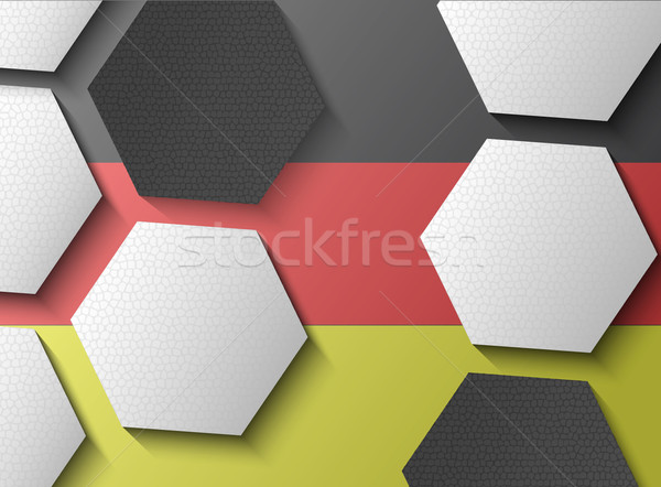 Illustration of Germany flag with soccer items Stock photo © gigra