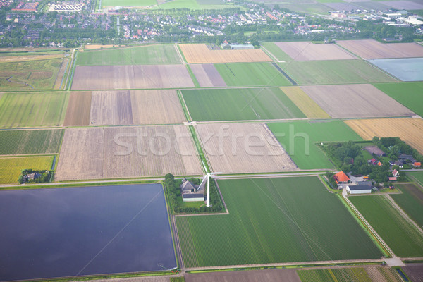The Netherlands from above. Aerial view at agriculture landscape Stock photo © gigra