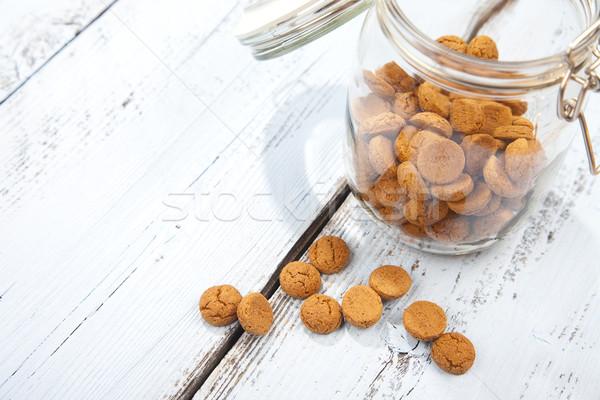 Сток-фото: голландский · конфеты · стекла · банку · белый