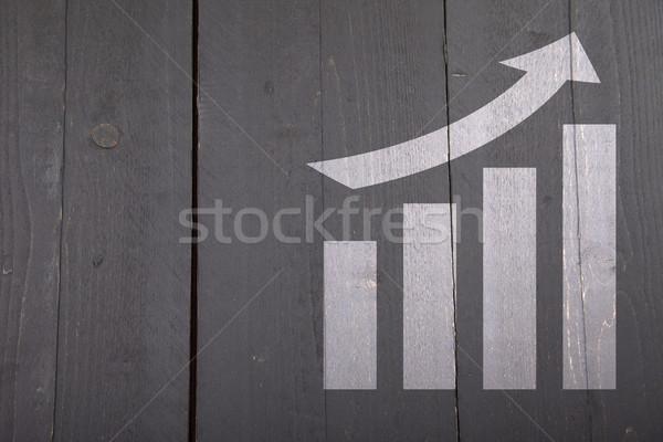 Blanche graphique croissance sombre bois noir Photo stock © gigra