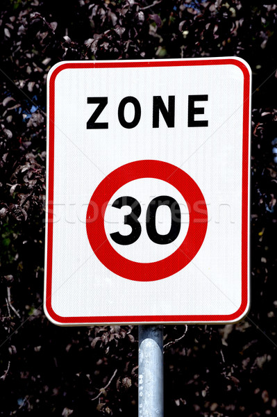 panel of speed limit Stock photo © Gilles_Paire
